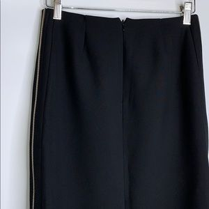 Etcetera Skirts - ETCETERA • Classic Pencil Gold Zipper Black Skirt
